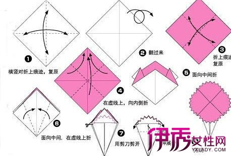 马上来就来学学康乃馨的折纸步骤吧