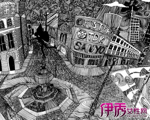 【英伦街道手绘插画】【图】英伦街道手绘插画图片
