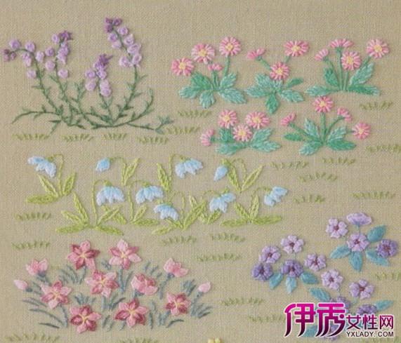 【花卉刺绣图样】【图】花卉刺绣图样欣赏