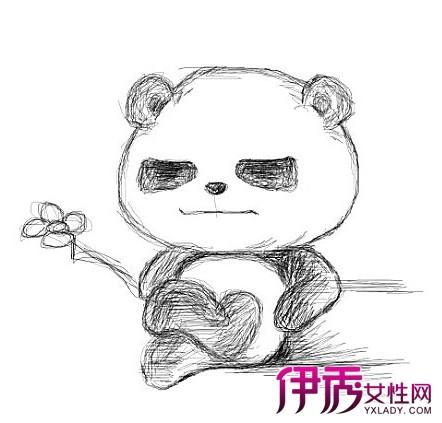 【手绘熊猫卖萌】【图】手绘熊猫卖萌
