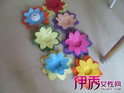 【图】手工制作莲花灯图片 漂亮花朵等你来学
