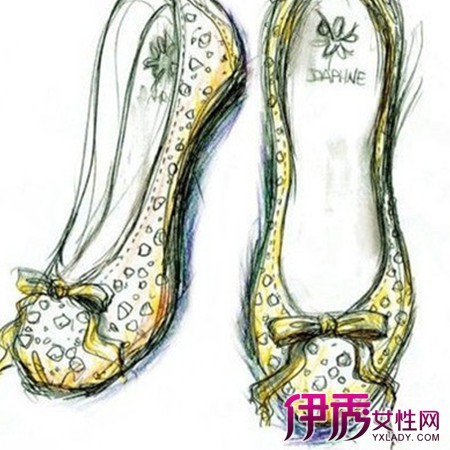 精微素描鞋子步骤图