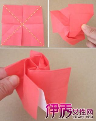 【玫瑰折纸花步骤图解】【图】玫瑰折纸花步骤图解