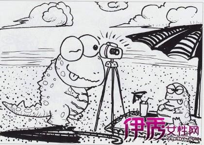 【儿童创意线描黑白画】【图】精彩儿童创意线描黑白