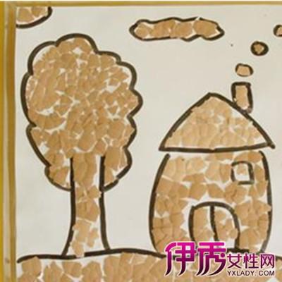 【图】简单的幼儿创意手工蛋壳粘贴画