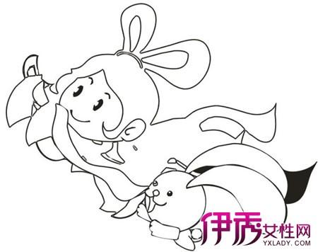 下面就来欣赏中秋节嫦娥简笔画图片