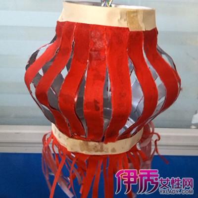 矿泉水瓶做灯笼图片