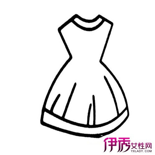 伊秀生活网 创意 / 正文  简单的小礼服式样的公主裙,腰间的蝴蝶结系