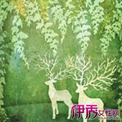 森系手绘鹿插画壁纸观赏 有如走出森林般的感觉