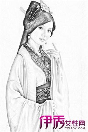 【手绘古代美女铅笔画】【图】手绘古代美女铅笔画