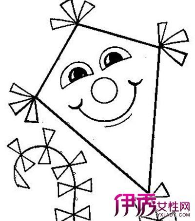 放风筝动漫图画-【图】风筝简笔画图片大全欣赏 揭示简笔画绘画的3大技巧-卡通简笔画图片
