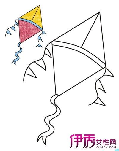 风筝简笔画图片大全欣赏 揭示简笔画绘画的3大技巧