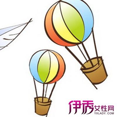 热气球简笔画图片欣赏 特别的飞行器