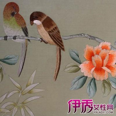 三种好看的刺绣墙布图片欣赏 刺绣的针法大全图片