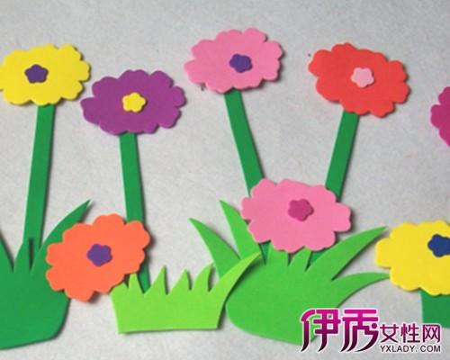 【海绵纸花朵手工贴画】【图】可爱精致海绵纸花朵