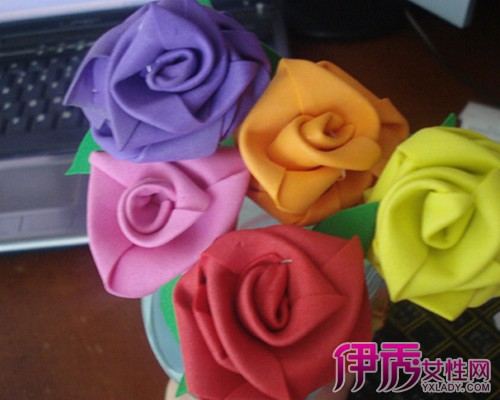 【图】可爱精致海绵纸花朵手工贴画