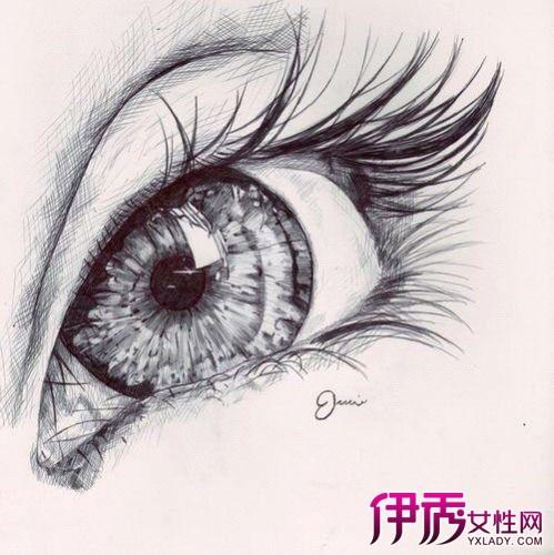 【图】唯美手绘眼睛图片 人物眼睛照片转手绘效果的ps方法