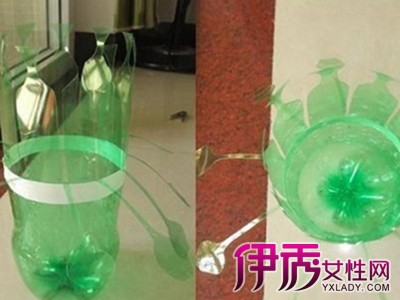 塑料瓶变废为宝手工作品展示 废弃瓶子变精美灯笼