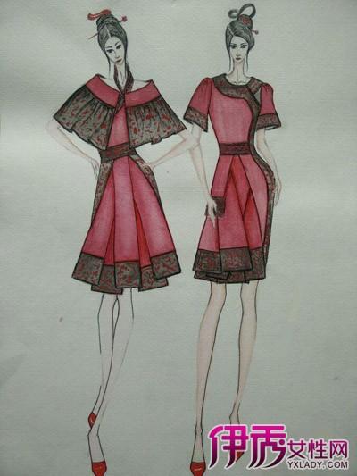 【图】铅笔手绘服装设计图 做自己的设计师