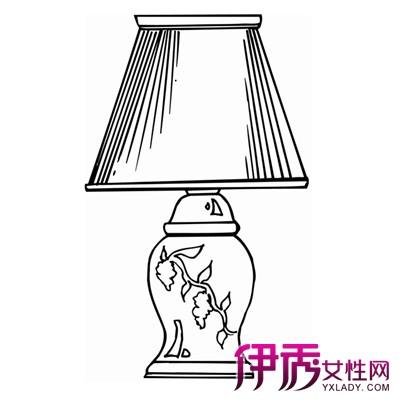 灯 灯具 简笔画 手绘 台灯 线稿 400_400