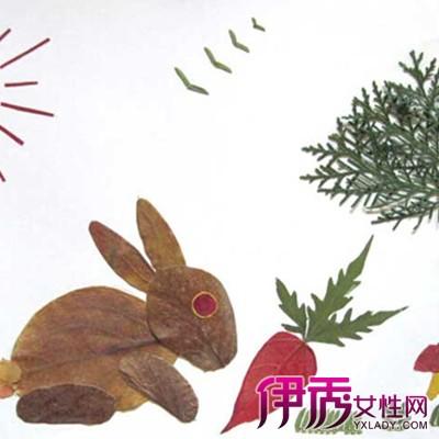 【图】小朋友树叶贴画图片欣赏