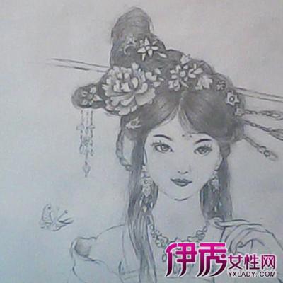 亮手绘古装美女铅笔画 体会艺术的真正魅力