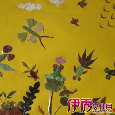 现在以做金鱼树叶叶贴画为例.