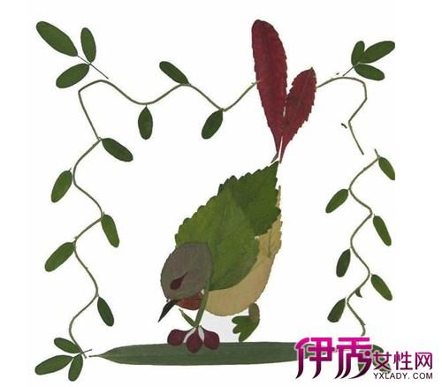 【图】欣赏树叶拼图作品 可引导孩子发挥想象力
