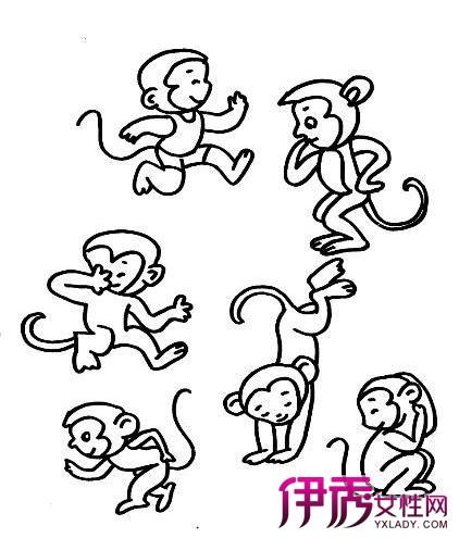 【图】小猴子图片欣赏 5步教你学会猴子简笔画
