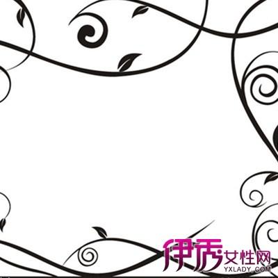 高清藤蔓花边边框简笔画