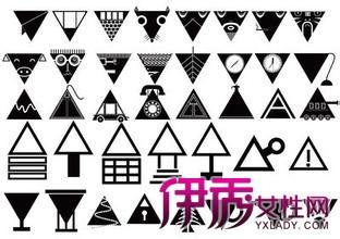 一个包含三角形的图形,经过联想,变成一个有圆形的图形.图片