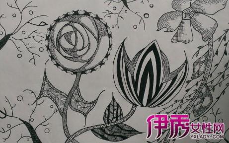 【图】创意手绘黑白装饰画 手绘必备工具建议