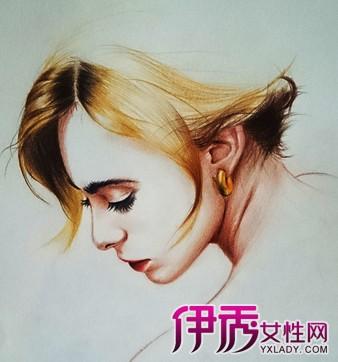 【图】彩铅手绘唯美插画图 水溶性彩铅画细节及技法