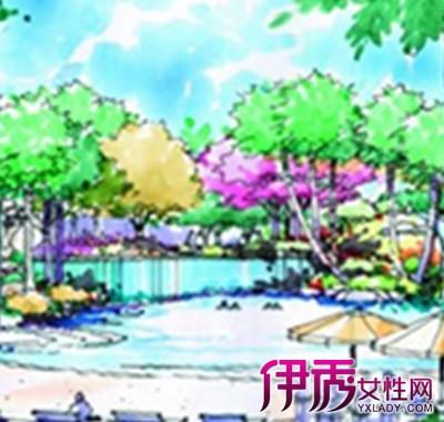 【图】水上公园手绘鸟瞰图片欣赏 都市旅游最佳地