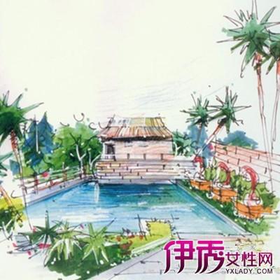 【图】公园景观手绘效果图欣赏