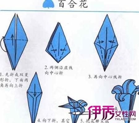 【百合折纸】【图】百合折纸步骤大全