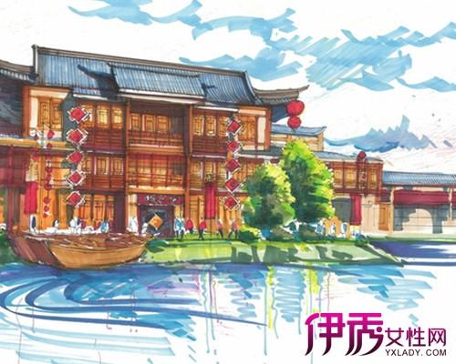 【图】中式手绘建筑效果图 介绍设计师的四个设计表现