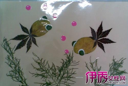 树叶贴画作品一等奖作品欣赏 介绍贴画的三大品种图片