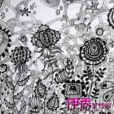 【黑白创意手绘装饰画】【图】黑白创意手绘装饰画