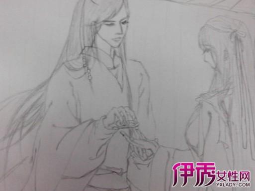 【图】手绘古风人物铅笔画图片欣赏 大神支招怎样diy手绘墙画