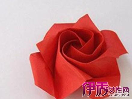【折纸玫瑰花步骤图解】【图】折纸玫瑰花步骤图解
