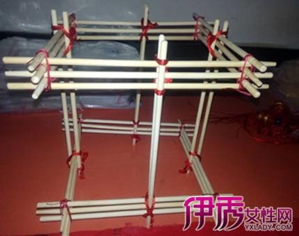 筷子创意手工艺术品做法 10步教你快速用筷子制作灯笼