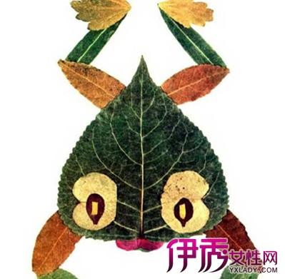 【图】秋天树叶贴画作品图片大全欣赏 需极具丰富想象力