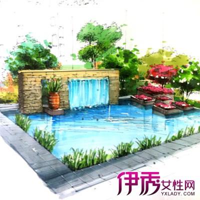 【图】欣赏景观小品手绘图片