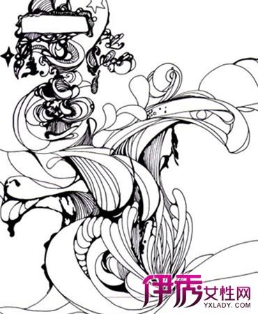 【图】手绘简单黑白线条画作品展现 为你介绍手绘的艺术价值及技巧