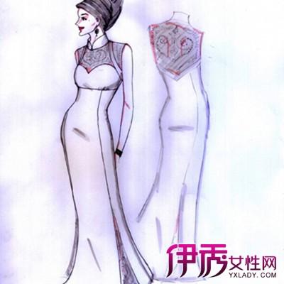 【手绘旗袍设计图】【图】手绘旗袍设计图大全