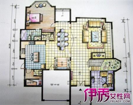 【图】手绘平面图 居室设计合理与舒适的依据