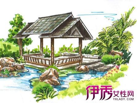【图】亭子手绘图片欣赏 手绘的4大表现手法