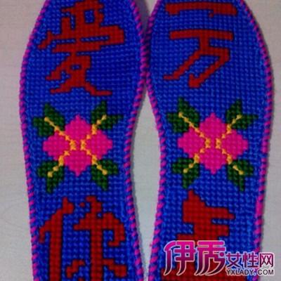 十字绣鞋垫图纸,纯手工十字绣鞋垫图案大全居然被小小的绣花鞋垫给pk