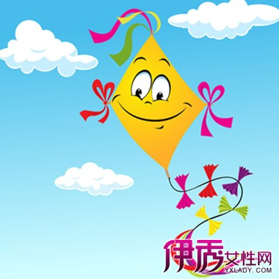 放风筝卡通照片 3种风筝图片
